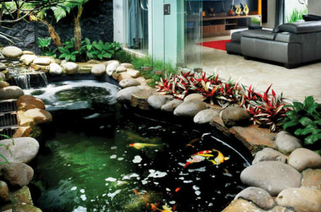 feng shui kolam ikan di dalam rumah