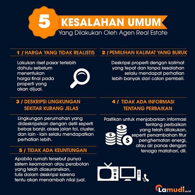 5 Kesalahan Agen Real Estate
