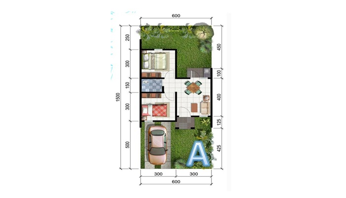Contoh Denah Rumah Kantor  contoh desain rumah type 36 yang murah untuk dibangun lamudi