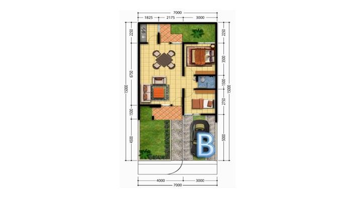 Desain Rumah Minimalis Lebar 5 Meter  contoh desain rumah type 36 yang murah untuk dibangun lamudi