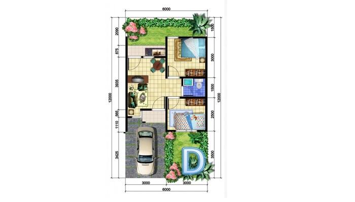 Desain Rumah Minimalis Ukuran 7x14  contoh desain rumah type 36 yang murah untuk dibangun lamudi