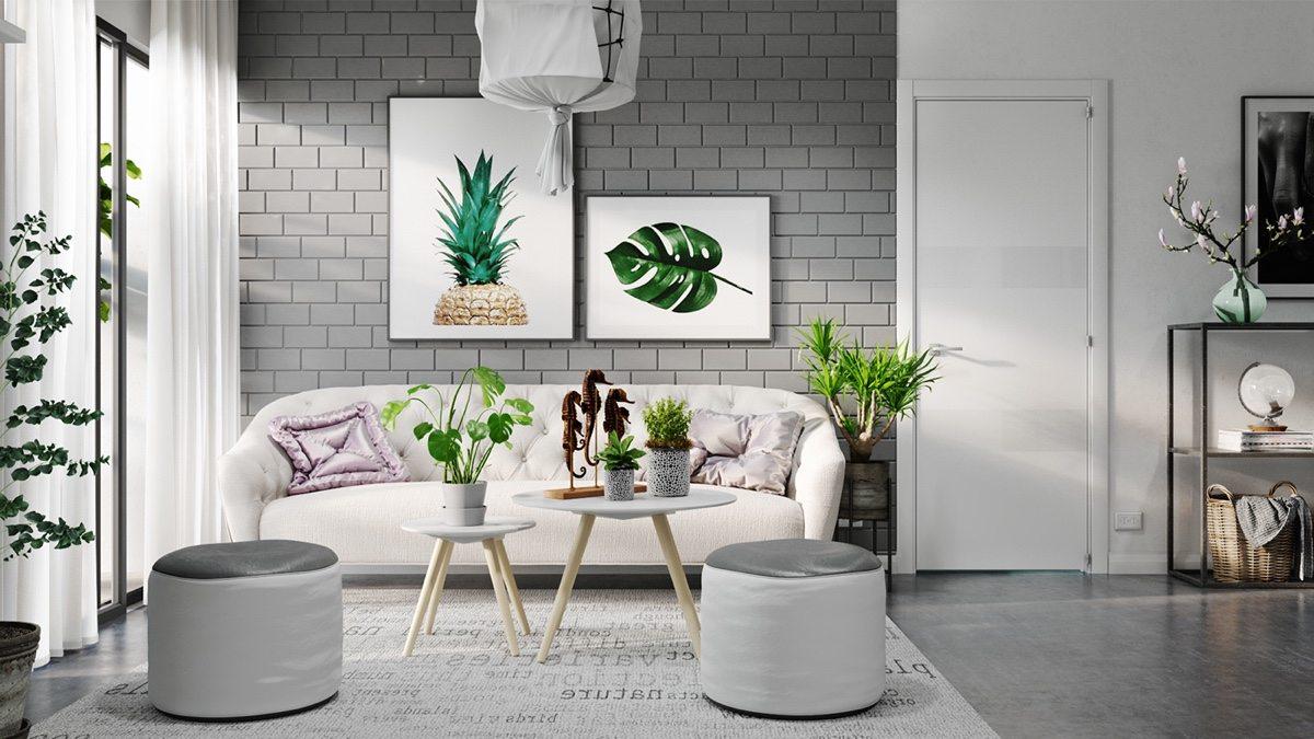 Ruang Keluarga Desain Interior Scandinavian