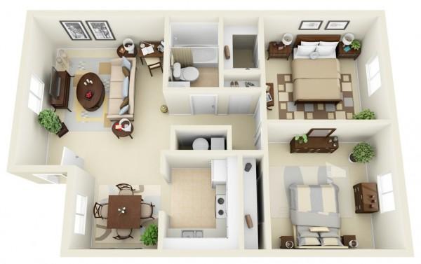 rumah minimalis 2 kamar
