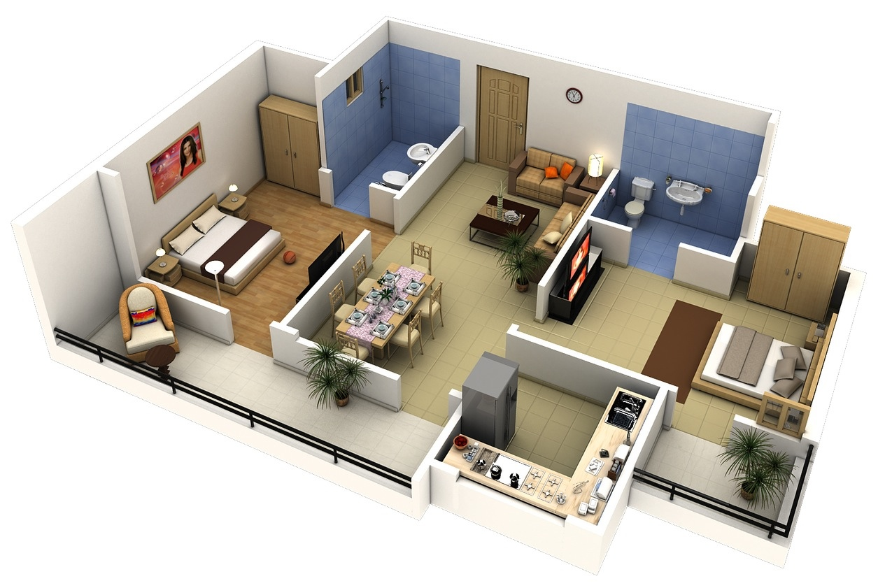 10 Contoh Denah Apartemen Yang Murah Untuk Dibangun Lamudi