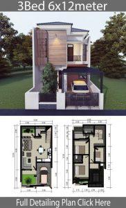 10 contoh denah rumah type 45 1 & 2 lantai - lamudi