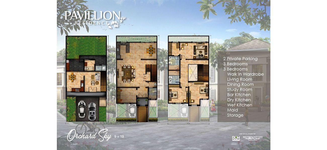 RKM Tanjung Bunga – Pavilion Residence Orchard Sky Tipe 9x19