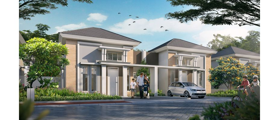 Residensial + Komersial Citra Indah Cluster Bukit Sakura Tipe 45 di Bogor
