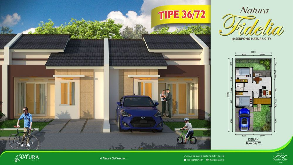 Serpong Natura City Cluster Natura Fidelia