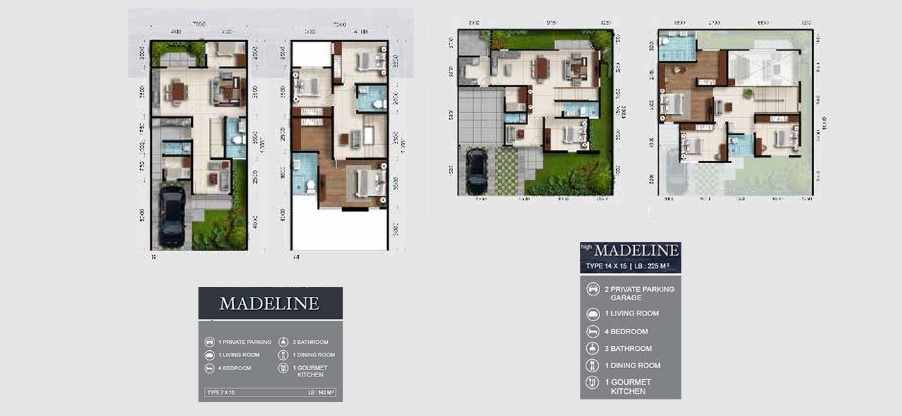 Residensial RKM Tanjung Bunga - Premier Residence Tipe Madeline di Makassar