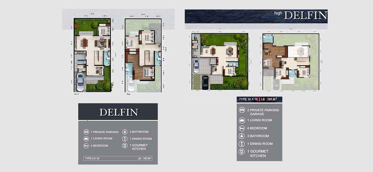 Residensial RKM Tanjung Bunga - Premier Residence Tipe Delfin di Makassar