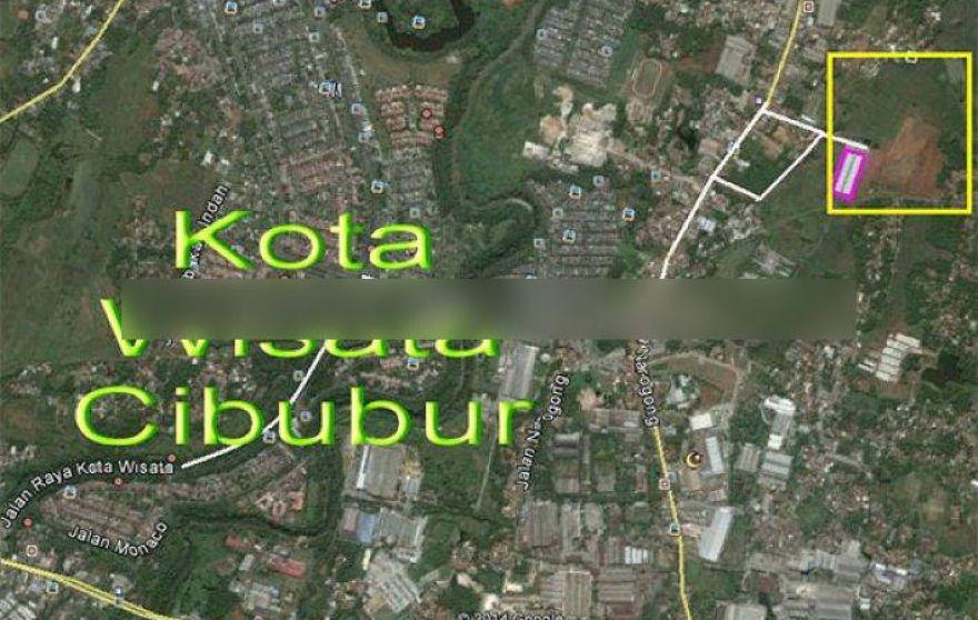 Tanah Narogong Raya Sebelah Kota Wisata Cibubur Luas 8 Hektar Murah